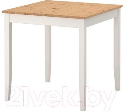 Обеденный стол Ikea Лерхамн 802.642.71 (светлая/белая морилка) - Инструкция по сборке