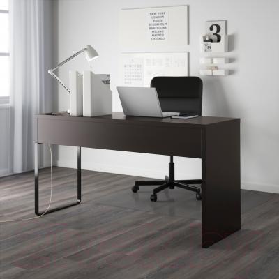 Компьютерный стол Ikea Микке 602.447.45 (черно-коричневый)
