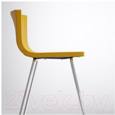 Стул Ikea Бернгард 802.726.57 (темно-желтый/хром)