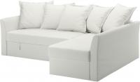 Чехол на угловой диван Ikea Хольмсунд 803.017.30 (белый) -