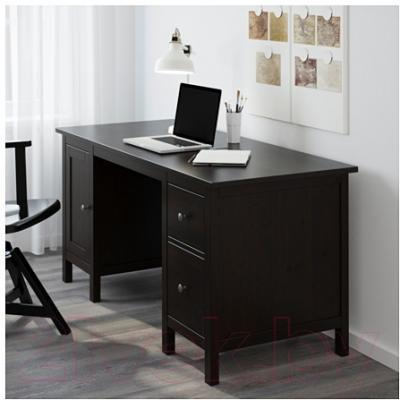 Письменный стол Ikea Хемнэс 602.457.21 (черно-коричневый)