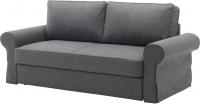 Чехол на диван - 3 местный Ikea Баккабру 803.232.37 (темно-серый) -