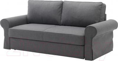 Чехол на диван - 3 местный Ikea Баккабру 803.232.37 (темно-серый)