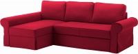 Чехол на угловой диван Ikea Баккабру 803.232.42 (красный) -
