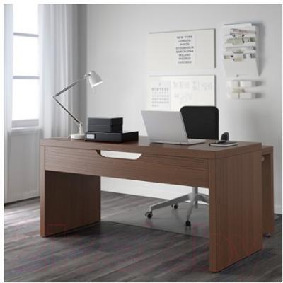 Письменный стол Ikea Мальм 803.275.08 (коричневая морилка/ясеневый шпон)
