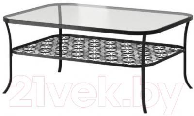 Журнальный столик Ikea Клингсбу 901.285.65 (черный, прозрачное стекло)