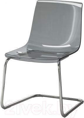 Стул Ikea Тобиас 901.853.20 (серый/хром)
