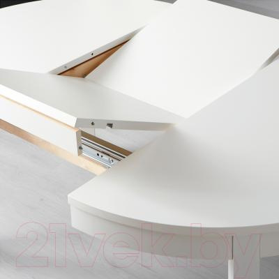 Обеденный стол Ikea Бьюрста 902.047.43 (белый)