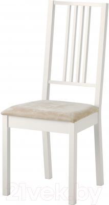 Стул Ikea Берье 902.115.31 (белый/песочный)