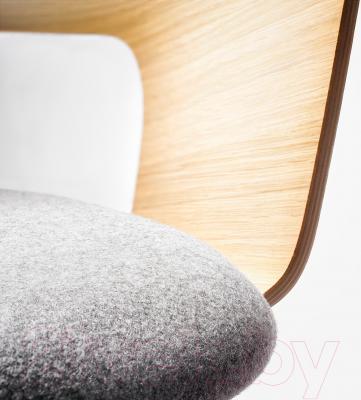 Кресло офисное Ikea Фьеллбергет 602.507.22 - сиденье из шерсти, спинка из фанеры