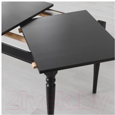 Обеденный стол Ikea Ингаторп 902.224.07 (черный)