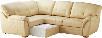 Угловой диван-кровать Ikea Бьербу 902.226.95 (бежевый) - выдвижной ящик