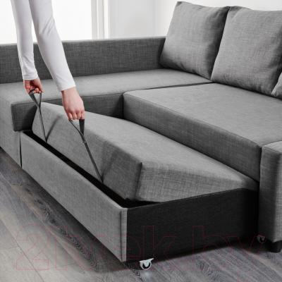 Угловой диван-кровать Ikea Фрихетэн 902.428.63 (Шифтебу темно-серый)