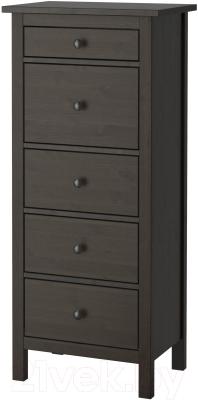 Комод Ikea Хемнэс 902.471.82 (черно-коричневый)