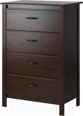 Комод Ikea Брусали 902.527.48 (коричневый)