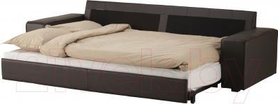 Диван-кровать Ikea Кивик 902.543.75 (темно-коричневый) - в разложенном виде