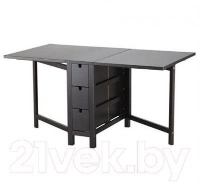 Стол-книга Ikea Норден 602.522.45 (коричнево-черный)