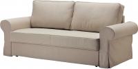 Чехол на диван - 3 местный Ikea Баккабру 902.609.65 (бежевый) -