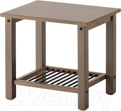 Прикроватная тумба Ikea Рикене 902.649.92 (серо-коричневый)