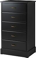 Комод Ikea Ундредаль 902.937.44 (черный) -