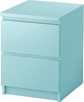 Прикроватная тумба Ikea Мальм 903.152.94 (светлая бирюза) -