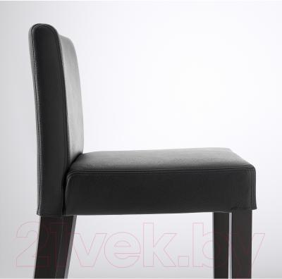 Стул Ikea Хенриксдаль 903.199.18 (коричнево-черный/черный)