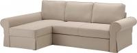 Чехол на угловой диван Ikea Баккабру 903.232.51 (бежевый) -