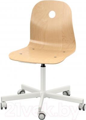 Стул офисный Ikea Вогсберг/Споррен 090.066.63 (березовый шпон/белый)