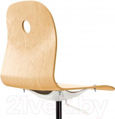 Стул офисный Ikea Вогсберг/Споррен 090.066.63 (березовый шпон/белый) - вид сзади