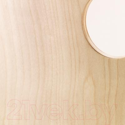 Стул офисный Ikea Вогсберг/Споррен 090.066.63 (березовый шпон/белый) - сиденье из фанеры