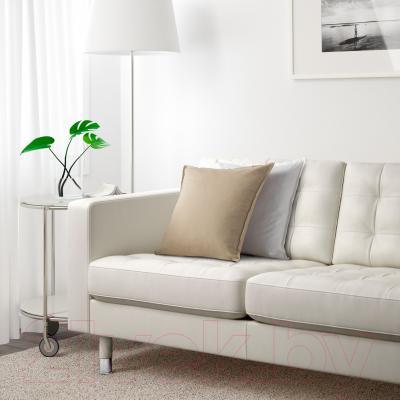 Диван Ikea Ландскруна 090.317.66 (белый/металл) - в интерьере