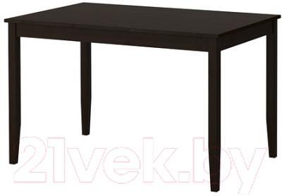 Обеденный стол Ikea Лерхамн 602.594.21 (черно-коричневый)