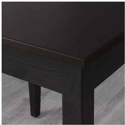 Обеденный стол Ikea Лерхамн 602.594.21 (черно-коричневый) - Инструкция по сборке
