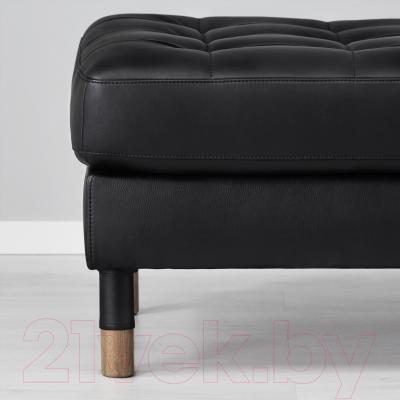 Банкетка Ikea Ландскруна 090.318.13 (черный/дерево)