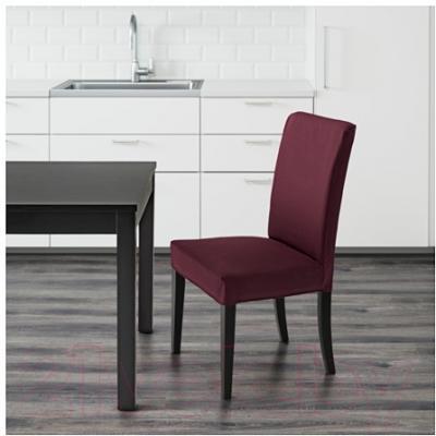 Стул Ikea Хенриксдаль 091.000.38 (коричнево-черный/бордовый)