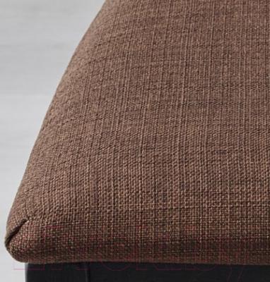 Стул Ikea Берье 091.283.82 (коричнево-черный/коричневый)