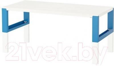 Письменный стол Ikea Поль 091.289.47 (белый/синий)