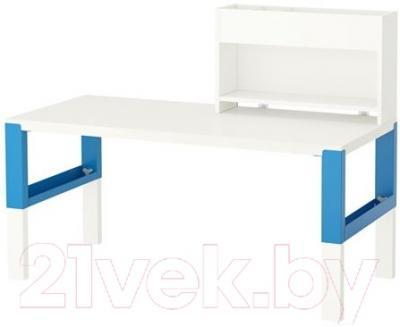 Письменный стол Ikea Поль 091.289.66 (белый/синий)