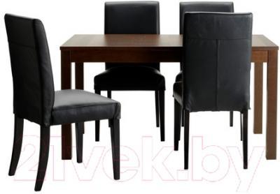 Обеденная группа Ikea Бьюрста / Хенриксдаль 091.296.64 (коричневый/черный)
