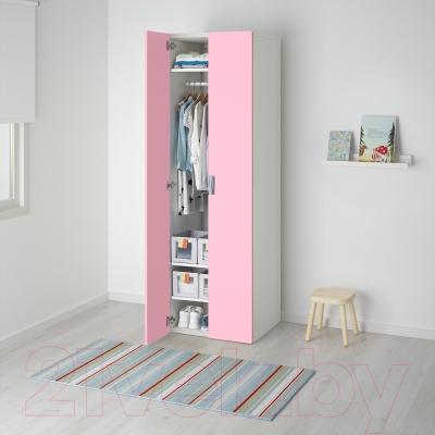 Шкаф Ikea Стува 091.336.56 (белый/розовый)