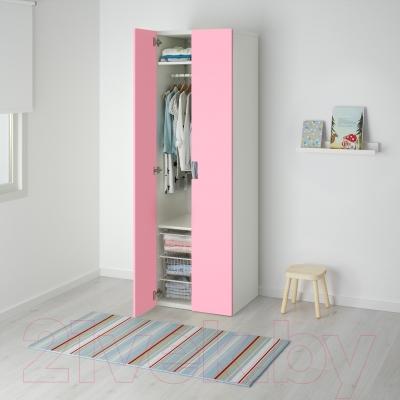Шкаф Ikea Стува 091.338.16 (белый/розовый)