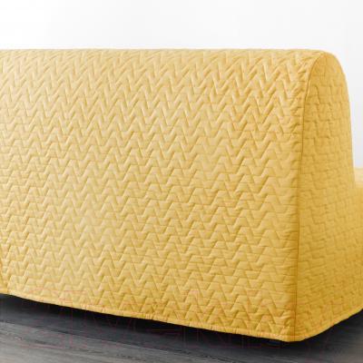 Диван-кровать Ikea Ликселе Левос 091.498.98 (Валларум желтый) - вид сзади
