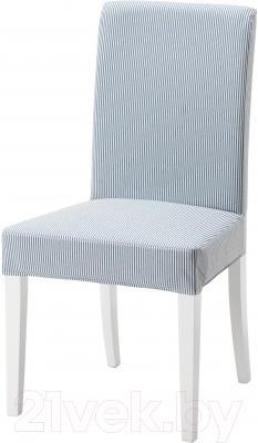 Стул Ikea Хенриксдаль 091.622.67 (белый/сине-белый)