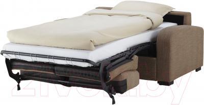 Диван-кровать Ikea Ингельстад/Лэннэс 091.669.96 (Хенста светло-коричневый) - в разложенном виде