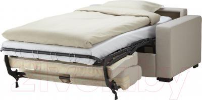 Диван-кровать Ikea Клагсторп/Лэннэс 091.670.00 (светло-бежевый) - в разложенном виде