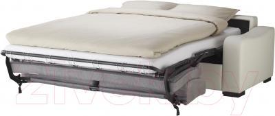 Диван-кровать Ikea Лиарум / Ласеле 091.720.68 (оннарп серый/бумстад белый) - в разложенном виде