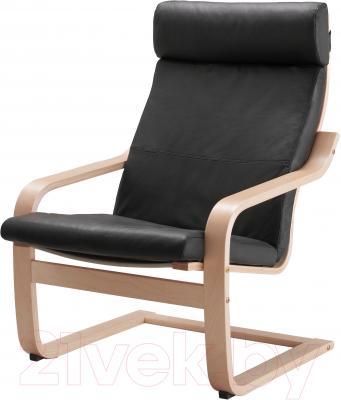 Кресло Ikea Поэнг 098.054.76 (березовый шпон/черный)