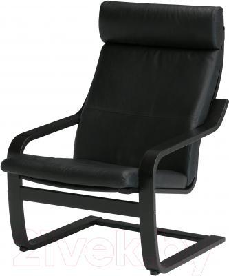 Кресло Ikea Поэнг 098.178.89 (черно-коричневый/черный)