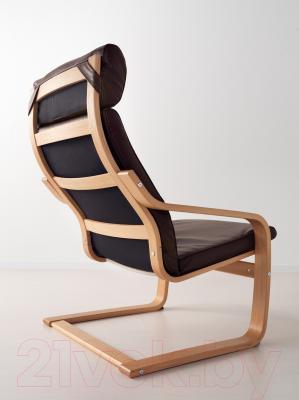 Кресло Ikea Поэнг 098.291.23 (дубовый шпон/темно-коричневый)
