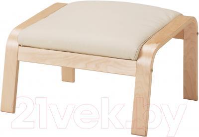 Банкетка Ikea Поэнг 098.305.41 (березовый шпон/светло-бежевый)